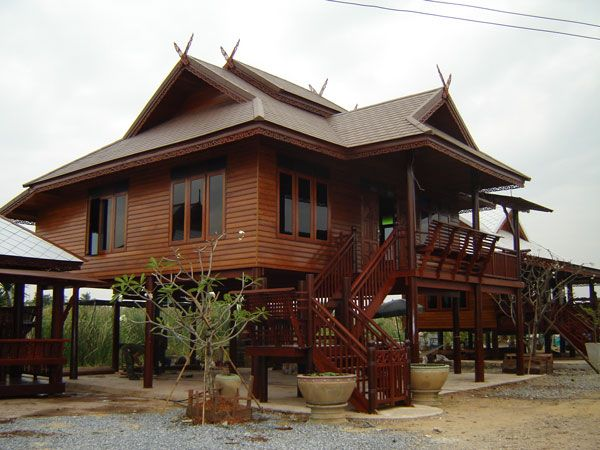 Very nice wood thai house home design pinterest for Thai style house design