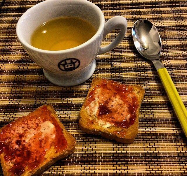 I love breakfast ,burro e marmellata,  good morning, fette biscottate, colazione,  buongiorno