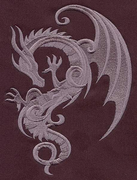 Baroque Punk Dragon | Urban Threads: Unique and Awesome Embroidery Designs