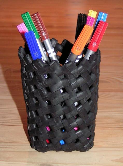 I brug igen..........: Penneholder af cykelslanger #innertube #pencilholder