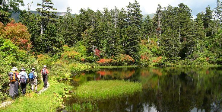 Hokkaido, Japan Hiking Tour - On this hiking trip enjoy mountain hikes in four national parks on Japan's northern island - Shikotsu-Toya, Daisetsuzan, Akan and Shiretoko. Japan hiking at its finest! Join us for a mountain hiking adventure in Japan!