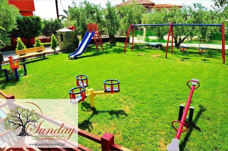 Safe and Secure playground for your kids !! #palyground #Halkidiki #Gerakini http://sundayresort.gr/
