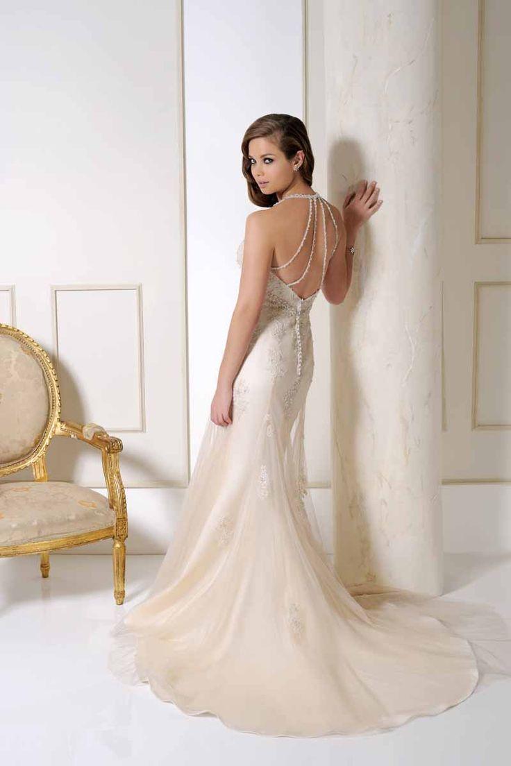 Benjamin Roberts wedding dress dress style 2506 back at Wedding Belles of Otley in blush