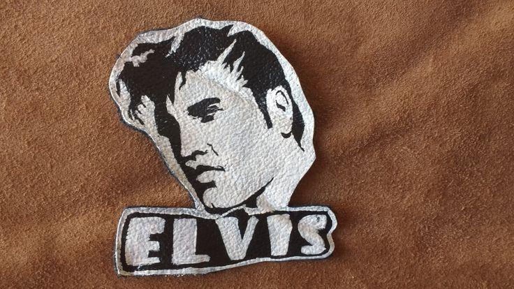 Parche de cuero rockabilly de Elvis Presley de OmahaBeach en Etsy
