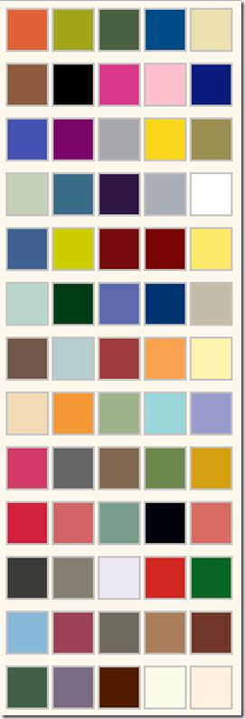 Krylon Spray Paint Colour Charts! I needed this!