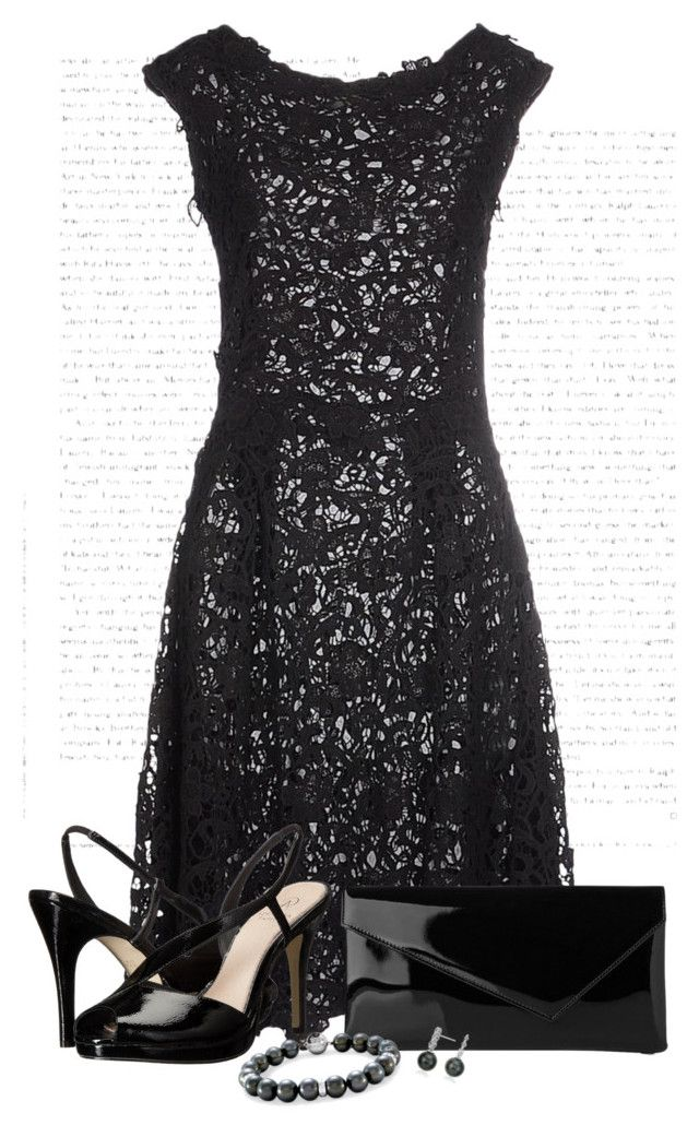 """Black"" by kimby72 ❤ liked on Polyvore featuring SCERVINO STREET, Adrianna Papell, L.K.Bennett and Blue Nile"
