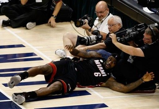 'LeBroning' video: LeBron's flopping inspires mock videos; Heat NBA odds drop