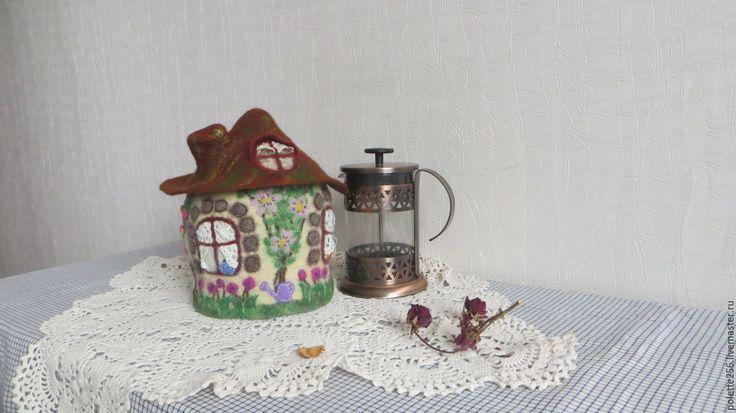 Купить Грелка - домик Гостеприимный дом - бежевый, кухонный декор, кухонный интерьер, декор кухни