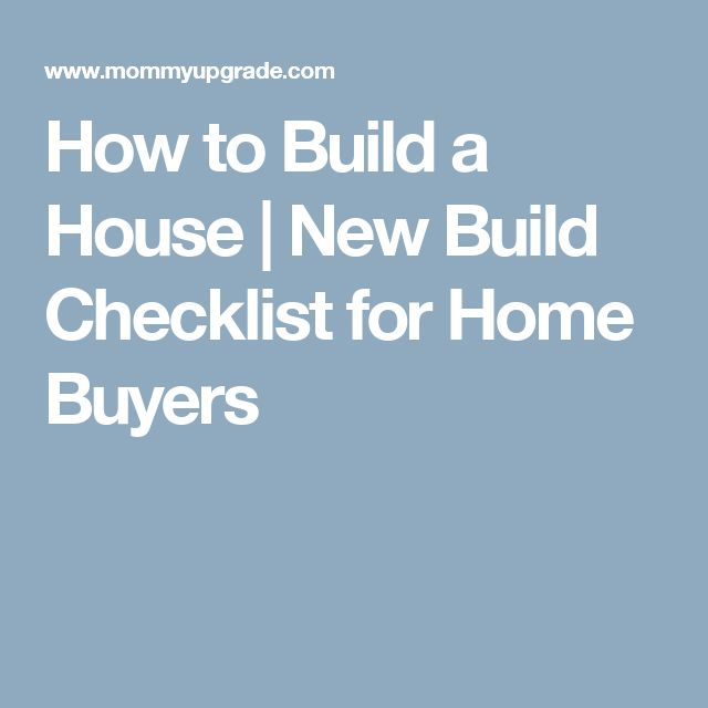 Best 25 checklist for new home ideas on pinterest new for Build it green checklist