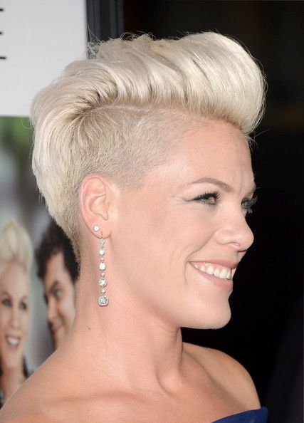 Short Hairstyles Lookbook: Pink wearing Fauxhawk (38 of 56). Pink sported a funky fauxhawk when she attended the 'Thanks for Sharing' premiere.
