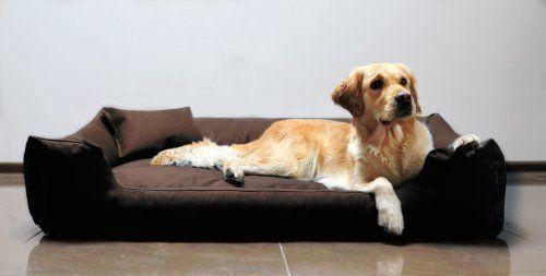 tierlando M5-C-01 Letto cane MORITZ in robusto CORDURA Divano per cani Cesta per cani Tgl XL 120cm MARRONE