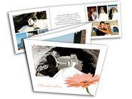 Danksagungskarten mit Foto und Gerbera - Hochzeits-Dankeskarten