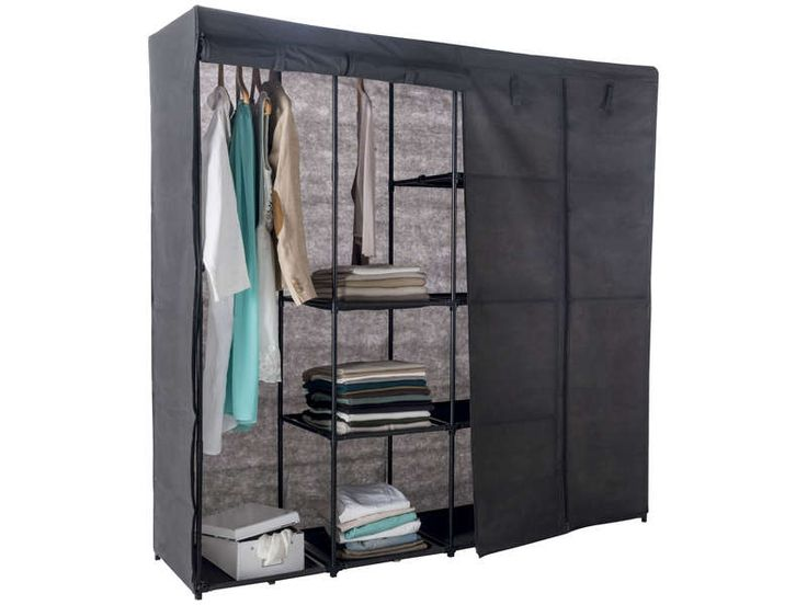 vestiaire avec housse xxl vente de penderie en tissu. Black Bedroom Furniture Sets. Home Design Ideas