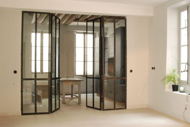 Cloison verri re int rieure avec ouvrants design et - Verriere cloison interieure ...