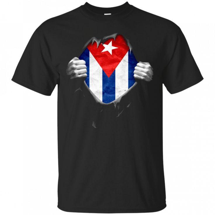 Cuba Flag T-Shirt. Proud Cuban