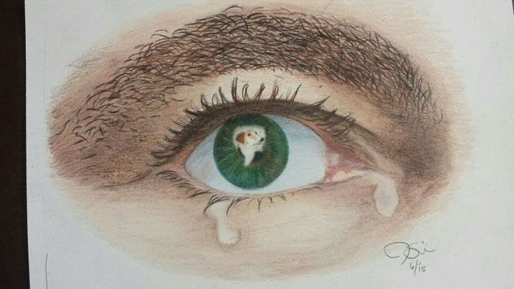 Sad Eye Graphite Pencil Drawing Sad Depression Cry