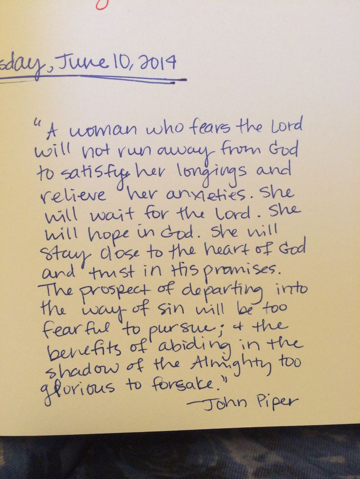 John Piper quote for the hard times