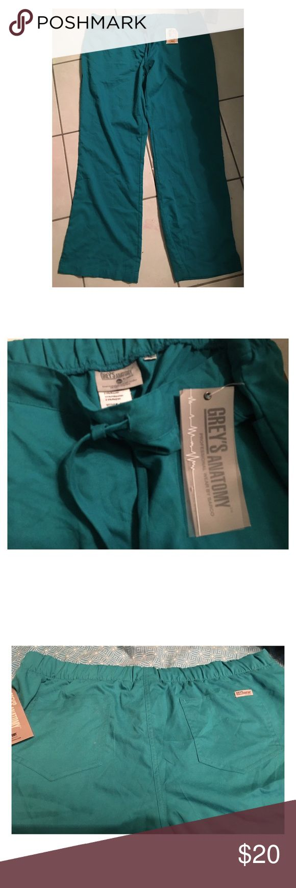 {Grey's Anatomy} NWT teal scrub pants Brand new with tags, just tried on and never ended up wearing. Super soft and pretty teal color! Pants