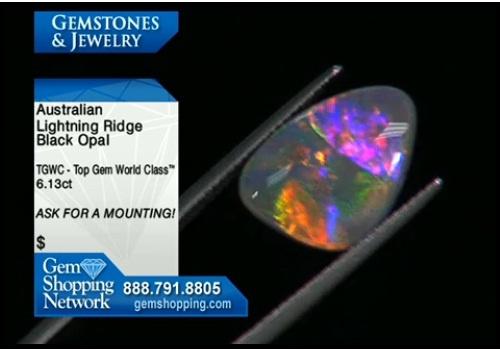 Australian lightening ridge black opal for sale at Gem Shopping Network #opal