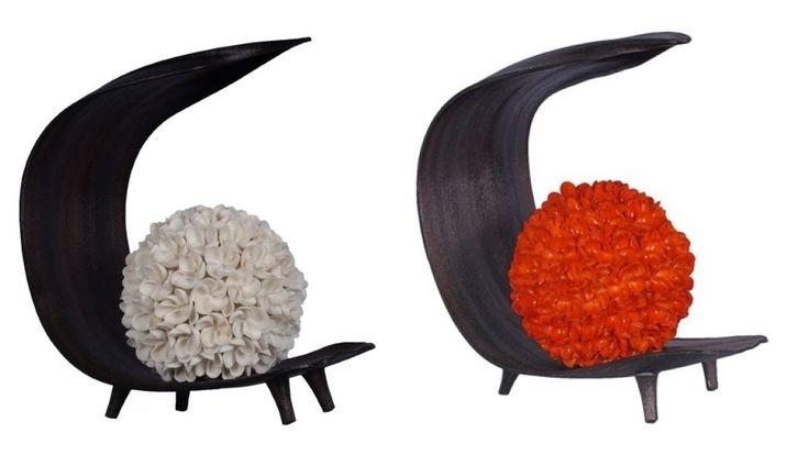 DESIGN ORIGINALE LAMPADA DA TAVOLO PARALUME  PETALI CONCHIGLIA