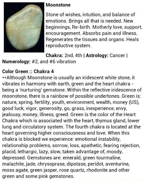 Moonstone gemstone crystal healing