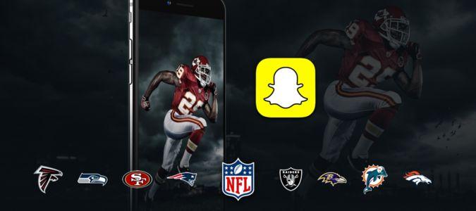 NFL on Snapchat. #nfl #sports #snapchat #socialmedia