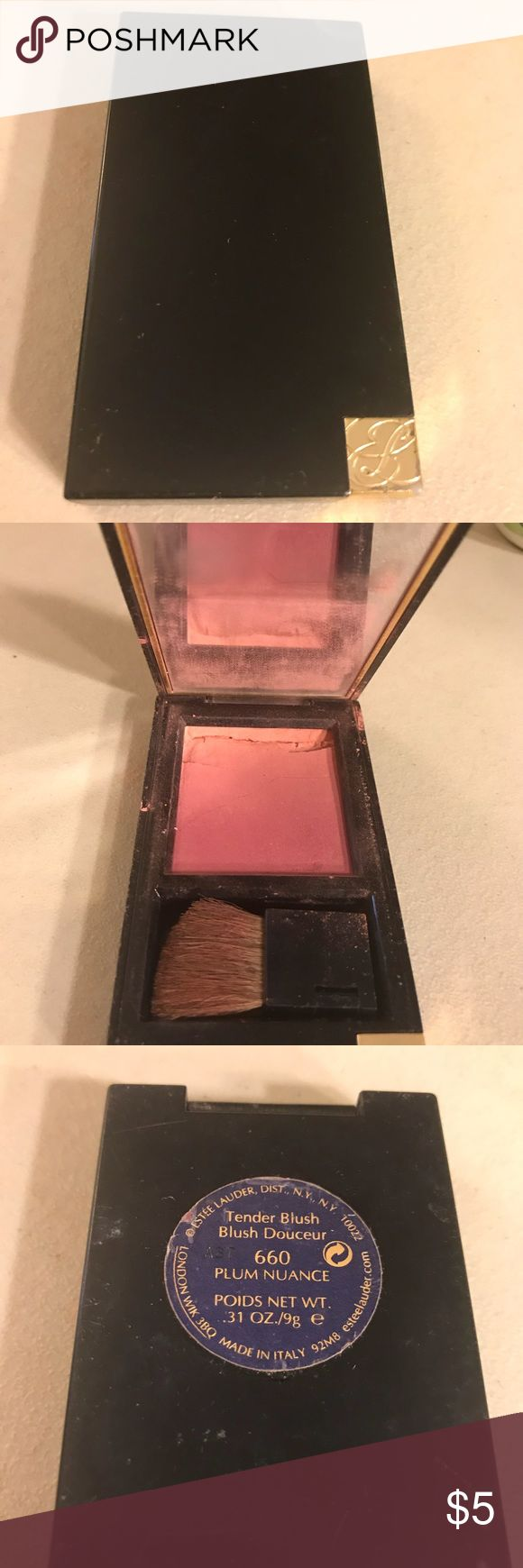 Estée Lauder tender blush Estée Lauder tender blush in color 660 plum nuance, used. Thanks for checking out Luxury1cosmetics!! Offers are welcomed, bundles are discounted!! Estee Lauder Makeup Blush
