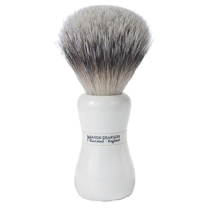 Mason Pearson Badger Shaving Brush This Pure Badger Shaving Brush is luxurious and kind to the skin.With proper care it should serve you for years. Its handle has been designed for a more comfortable grip. http://www.MightGet.com/march-2017-1/mason-pearson-badger-shaving-brush.asp