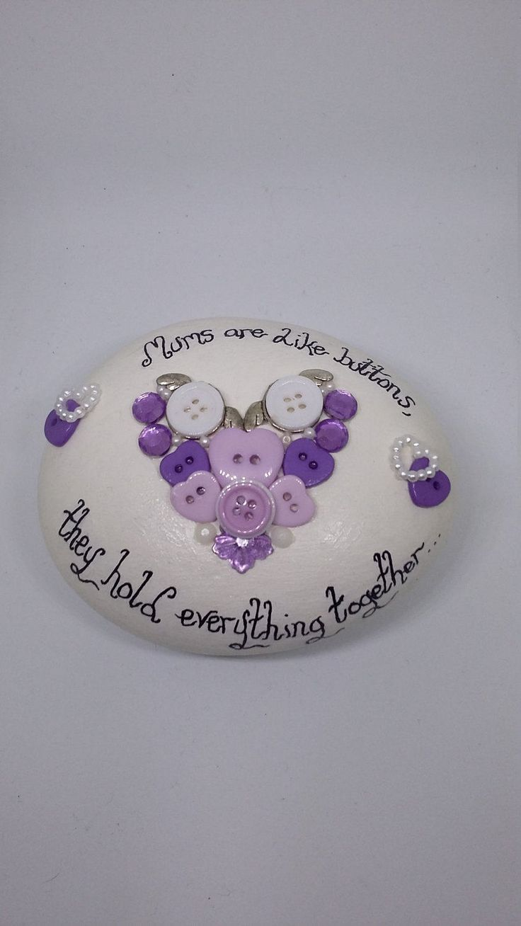 Gifts for mums,gifts for her,mother's day gifts,birthday gifts,painted stone ornament,home decor ornament,housewarming gifts,love token gift by Pebbles4Thought on Etsy