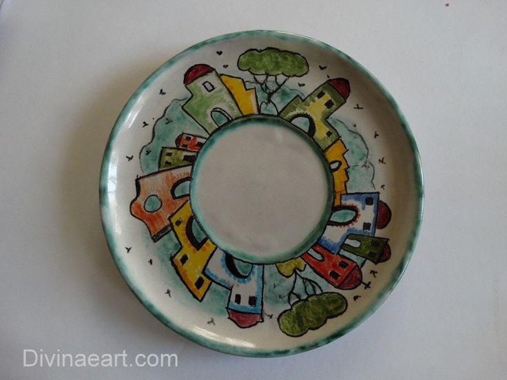Piatto decorato a mano in ceramica artistica (personalizzabile) di salartceramics su Etsy