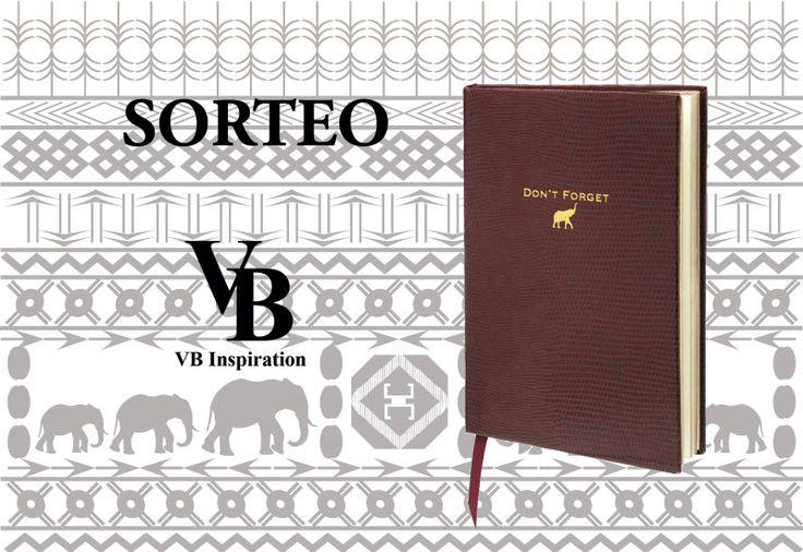 Sorteo de cuaderno Sloane Stationery en nuestro Facebook: https://www.facebook.com/vbinspiration