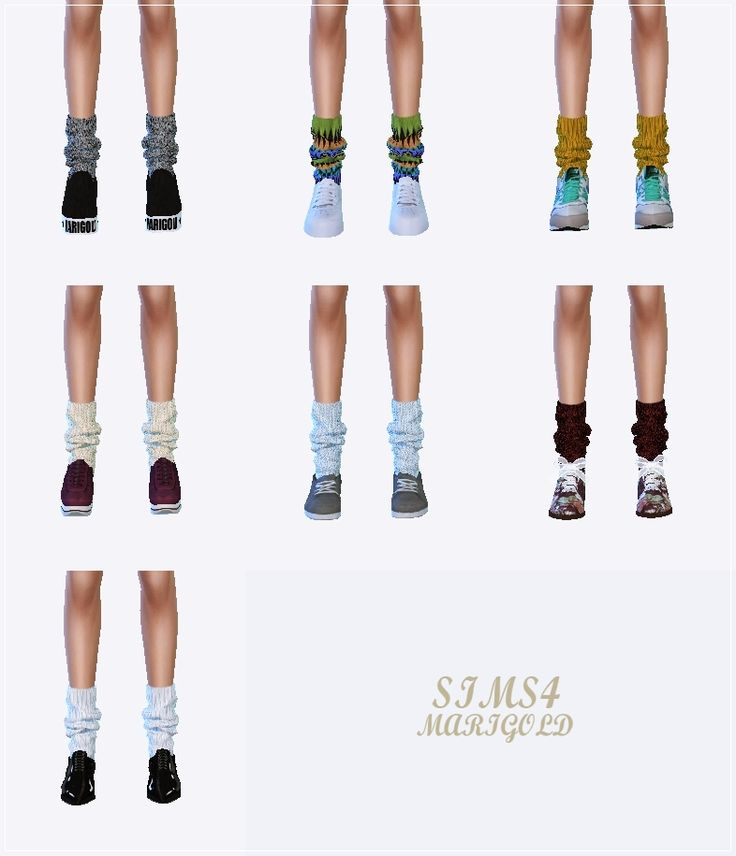 My Sims 4 Blog: Loose Knit Socks by Marigold