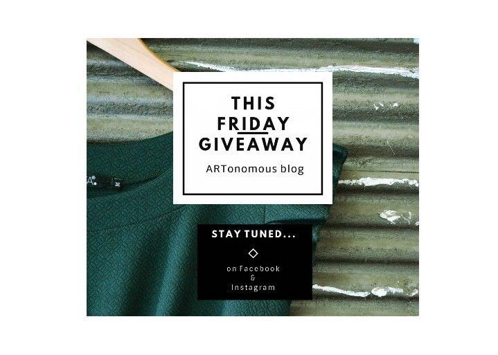 Friday Giveaway by the ARTonomous blog http://artonomous.gr/blog/