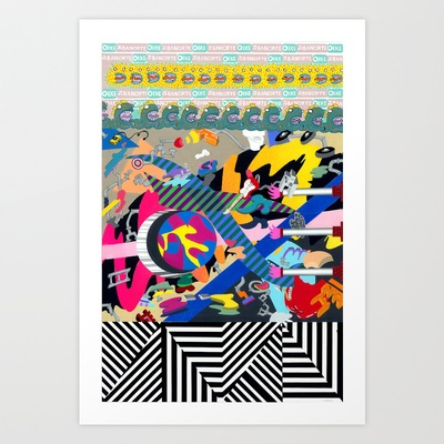 Paper Pusher Art Print by Jessica Eastburn - $18.00
