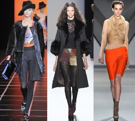 ШОРТЫ   Прошли времена, когда шорты были только в летнем гардеробе. Осеню-зимой 2012-2013 актуальны удлиненные шорты, похожие на обрезанные по колено классические брюки. Такая длина позволяют носить модные шорты не только девушкам. А еще такие шорты - отличная замена офисной юбке!