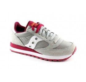 SAUCONY S1044-342 JAZZ ORIGINAL grigio rosso scarpe donna sneakers