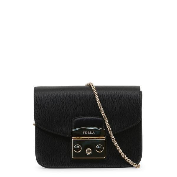 9fef5ef3b9224 Furla Mini Metropolis Crossbody Handbag In Classic Black - 820676   designercrossbodyhandbags