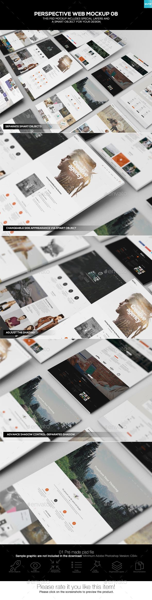Perspective #Web #Mockup 08 - Miscellaneous Displays Download here: https://graphicriver.net/item/perspective-web-mockup-08/19575375?ref=alena994