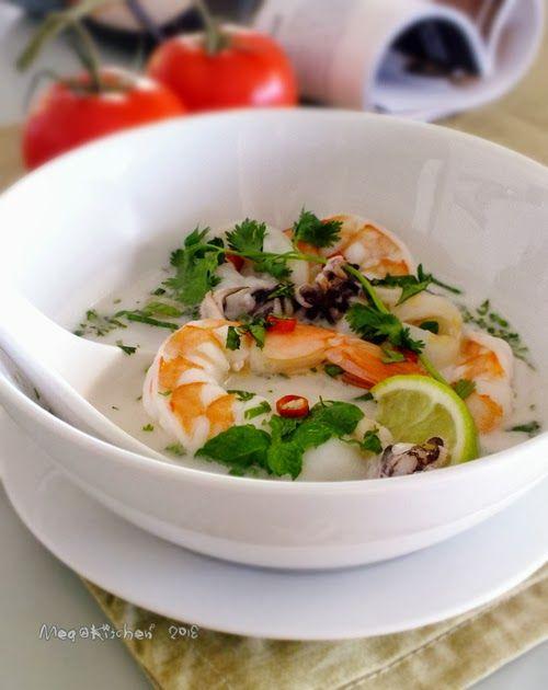 【梅子家】,過日子的幸福滋味: 【懶人上菜】南洋風,酸辣椰汁海鮮湯