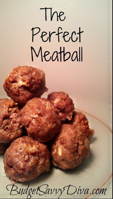 Perfect Meatball Recipe- I am usually happy with this blog and the recipes i n it...however made as is this recipe is rather bland. I would suggest adding additional seasoning and possibly a pan fry beginning - enjoy JS
