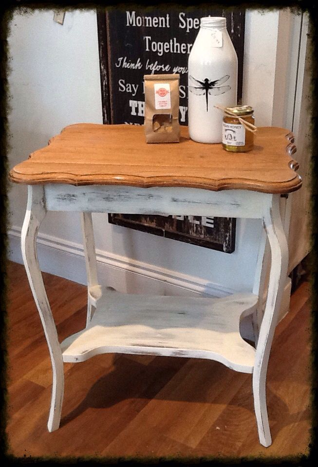 Painted in Everlong Vintage. Heavily distressed