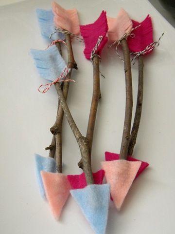 homework: Little Craft: valentine twig arrows