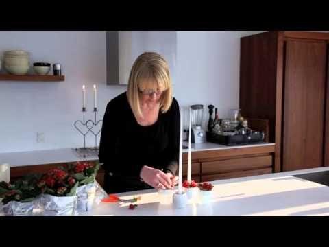 Blomsterideer.dk - Brændende Kærlighed små nemme dekorationer til hverdag eller fest.