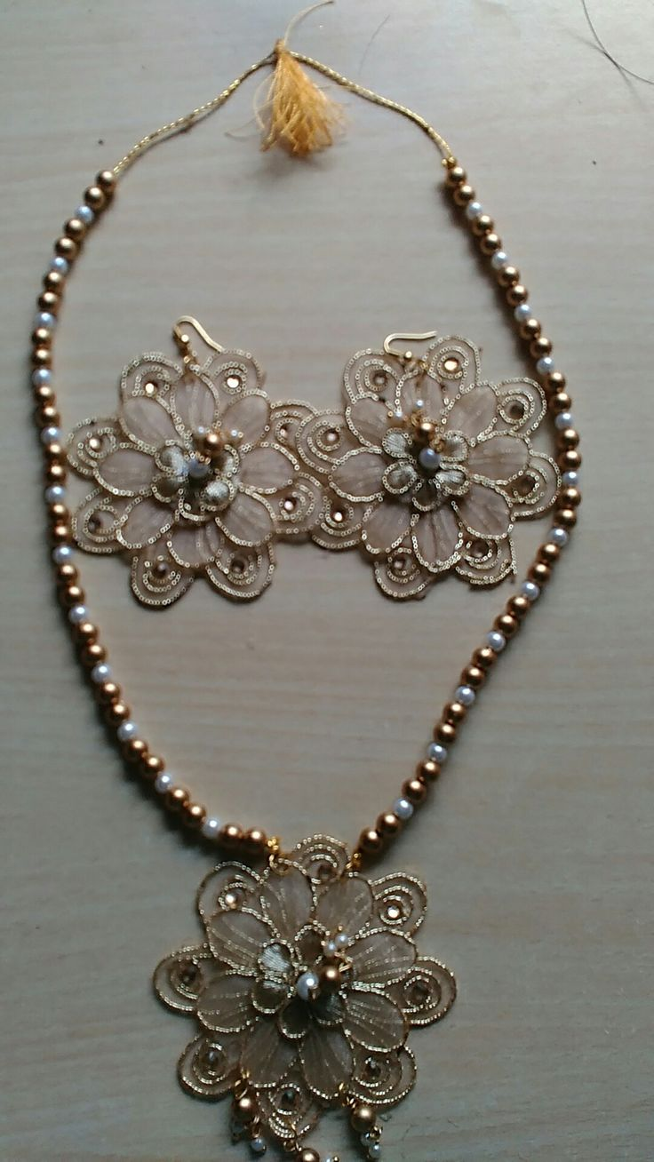 (sold) set of necklaces and earrings. Rs. 150 To buy new unique jewelry contact on 7802963237 jayshree Panchal. Selling limited to Baroda Gujarat only.