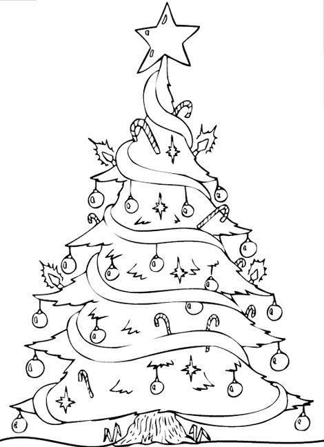 ausmalbild weihnachten tannenbaum  ausmalbilder