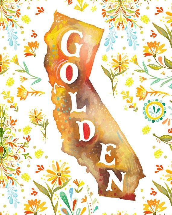 Golden: Ideas, Favorite Places, Art, California Dreaming, U.S. States, Design, Katie Daisy
