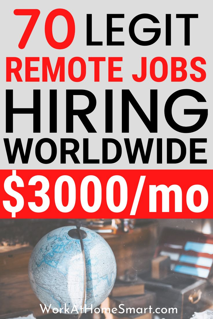 70+ Online Jobs Worldwide Work From Home Anywhere In The