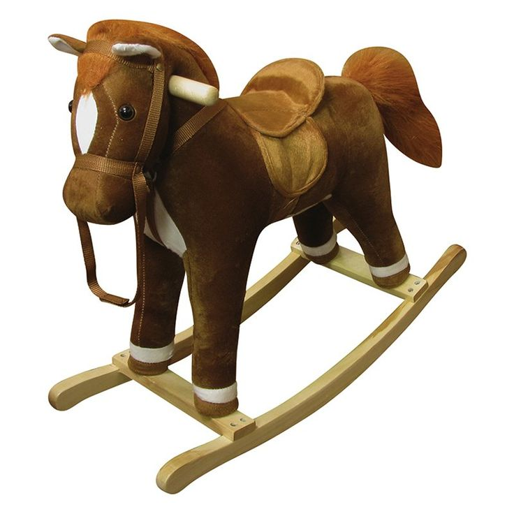 Have to have it. Coffee Plush Rocking Horse - $48.01 @hayneedle.com