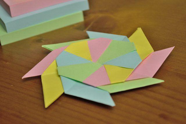 How to Make a Sticky Note Ninja Star