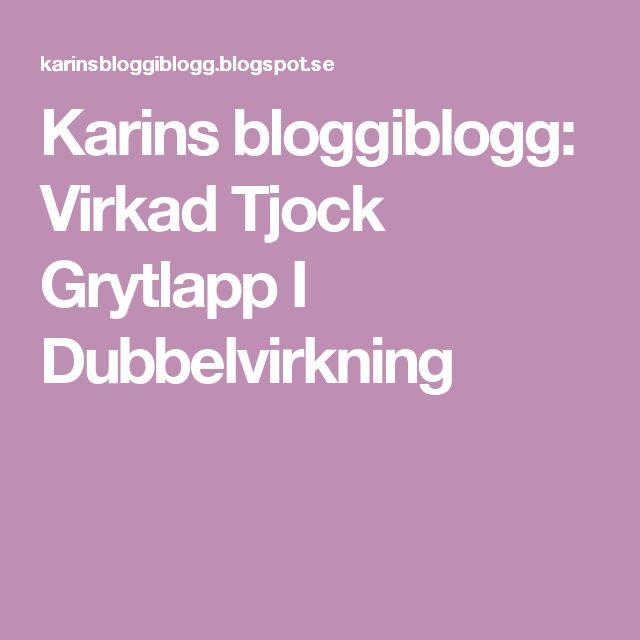 Karins bloggiblogg: Virkad Tjock Grytlapp I Dubbelvirkning